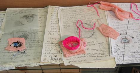 knitting bits in progress