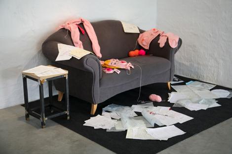 untitled knitting installation